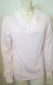 White Stag V-neck Cable Knit Sweater