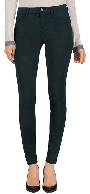 Item - Slat Green Medium Wash Luxe Sateen 485 Mid Rise Super Skinny Jeans Size 24 (0, XS)