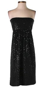 Marc Bouwer Empire Waist Strapless Sequin Dress