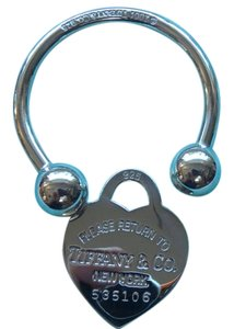 Tiffany & Co. Tiffany Sterling Silver heart Key Ring Keychain large size