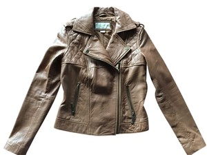 Michael Kors Luggage/Brown Leather Jacket