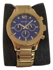 Revolt by Precision Time REVOLT CHRONOGRAPH WATCH IN GOLD/BLUE DIAL (PRECISION TIME)