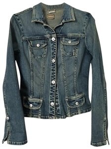 A.B.S. by Allen Schwartz Washed Denim Womens Jean Jacket