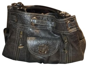 Kathy Van Zeeland Satchel in Dark Nickel