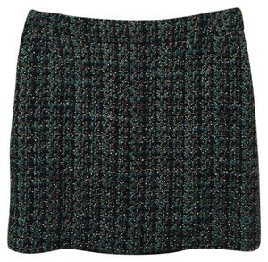 J.Crew Mini Skirt Green and Black