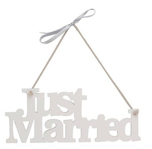 Just Married Hanging Sign