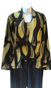 Joseph Ribkoff Top Excellent condition. Jacket with black an neon green sequence fabric