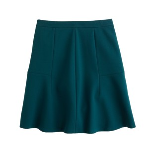 J.Crew A-line Holiday Festive Skirt Green