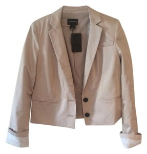 Club Monaco Cropped Fully Lined New With Tags Suiting Khaki Blazer