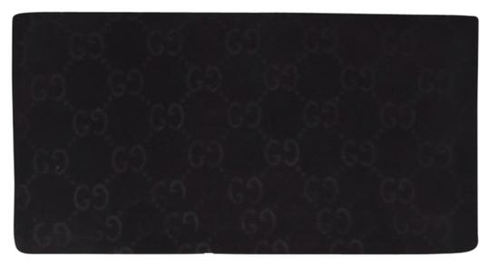 Gucci Monogram Velour Suede Long Tall Wallet GGTL03