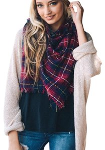 Gbs Over-size Plaid Scarf