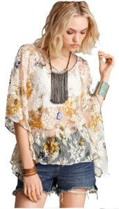 Free People Lace Kaftan M Top Tea Combo