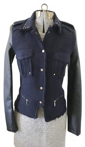 Zara Military Epaulets Tweed Military Jacket