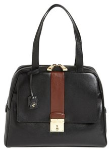 Marc Jacobs Charlie Tote Charlie Leather Satchel in black, brown, gold hardware
