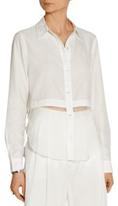 Elizabeth and James Logo Longsleeve Button Down Shirt White