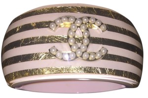 Chanel CHANEL '13C CRUISE COLLECTION PASTEL ACRYLIC CC CUFF BRACELET
