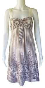 BCBGMAXAZRIA short dress Mocha Striped Eyelet on Tradesy
