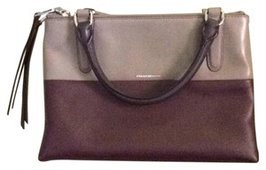 Coach Satchel in Burgundy/taupe