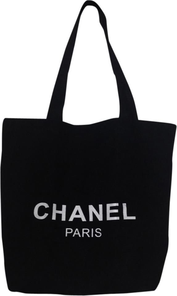 6c56d663dabecd Chanel Bag Fabric Black Canvas Tote - Tradesy