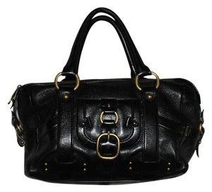 Céline Dr Italian Leather Satchel in Black