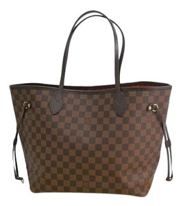 Louis Vuitton Canvas Neverfull Tote in Ebene