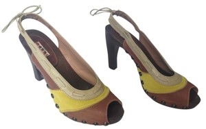 Marni Yellow & Brown Mules
