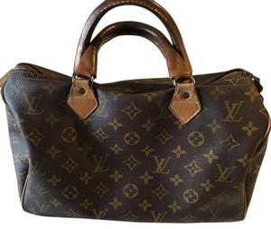Louis Vuitton Vintage Speedy 30 Satchel in LV Canvas Monogram