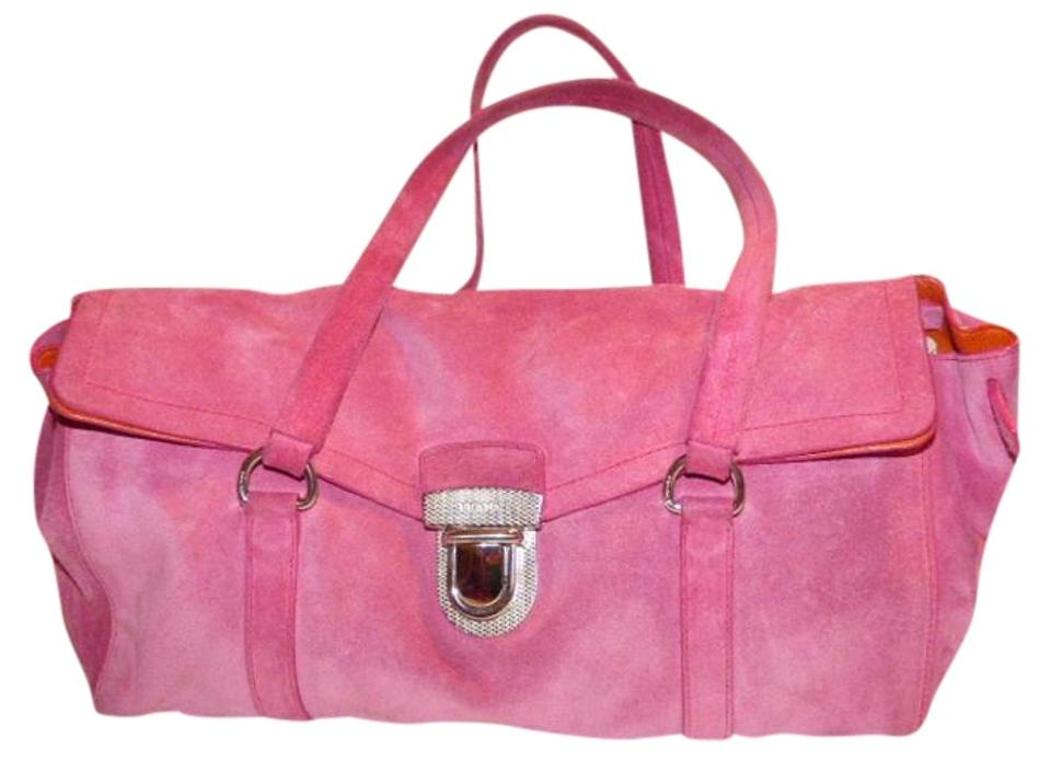 6b87c87c8ae1 Prada 1960 s Mod Look Chrome Hardware Excellent Vintage With East To West  Style Satchel in pink ...