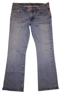 Lucky Brand Distressed Stretchy Flare Leg Jeans-Light Wash