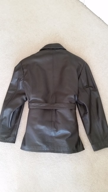 Hudson Jeans Chocolate Bomber Brown Leather Jacket