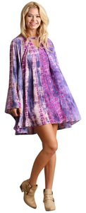 Umgee short dress Purple Tie Dye Bohemian on Tradesy