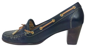 Sebago Casual Leather Navy Pumps