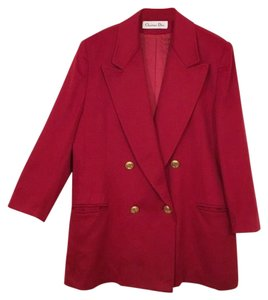 Dior Loro Piana Christian Cashmere Vintage Red Jacket