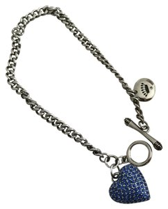 Juicy Couture Solid pave Heart wish Bracelet