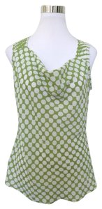 Banana Republic Polka Dot Top Green