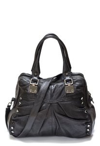 Treesje Silver Hardware Metallic Patent Leather Rocker Hobo Bag
