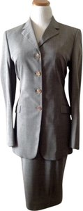 Piazza Sempione Italian Lightweight Gray Stretch Fabric Suit