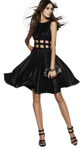 BCBGMAXAZRIA Pleated Cut-out Dress