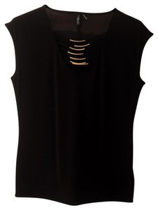 Guess By Marciano Top Black, gold