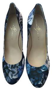Jessica Simpson Heels Summer Blue and White Floral Pumps