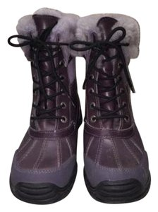 UGG Australia Leather Snow Winter Purple Boots