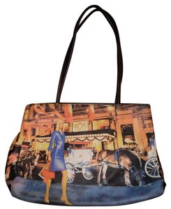 St. John Modern Woman Carriage Horses Tote in Multi-Color