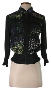 Alberto Makali Printed Zip Closure Jacket