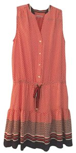 Juicy Couture short dress Red, White & Blue Drop Waist Polka Dot Pleated on Tradesy