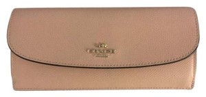Coach Light Pink Slim Leather Wallet