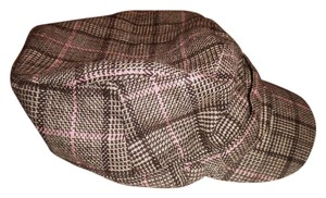 Plaid Houndstooth Design Cabbie Wool Blend Newsboy Cap Hat
