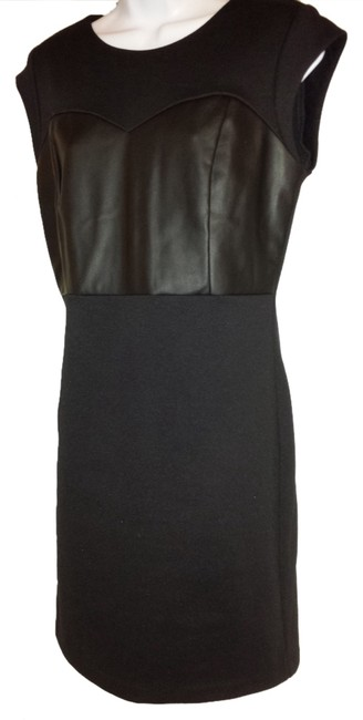 Preload https://item4.tradesy.com/images/michael-kors-black-faux-leather-combo-above-knee-cocktail-dress-size-6-s-1962773-0-0.jpg?width=400&height=650