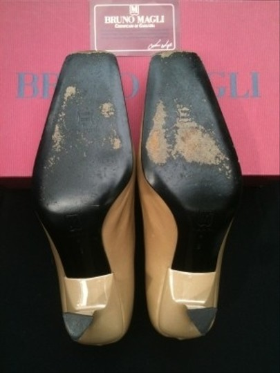 Bruno Magli Italian Leather Tan Pumps