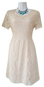 Forever 21 Lace Short Sleeve Skater Dress