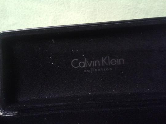 Calvin Klein CALVIN KLEIN CLAM SHELL HARD EYEGLASS CASE BLACK